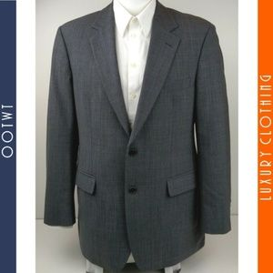 BROOKS BROTHERS 39R Glen Plaid Gray Sport Coat